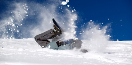 Snowboard crash