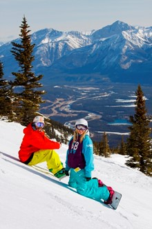 Professional Snowboard Instructor course in the Canadian Rockies