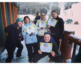 A few of the Lake Louise Crew happy with their certificates!