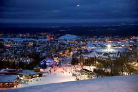 Blue Mountain Resort at night