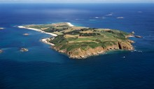 Ariel image of Herm Island